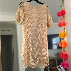 Vintage Low back gold dress